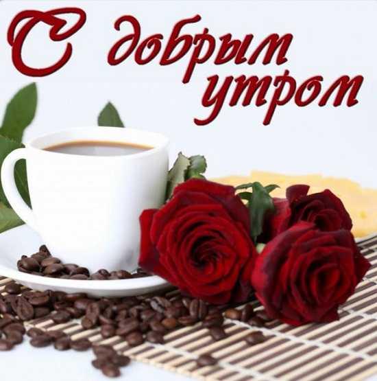 картинки доброе утро чашка кофе и цветы