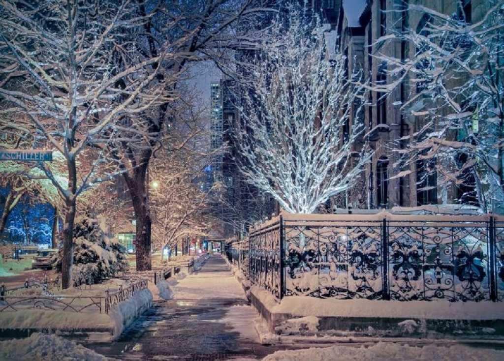 красивые картинки зима снег город вспоминает