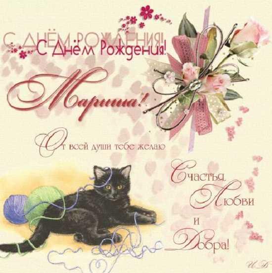 открытка с днем рождения марина прикольные (4)