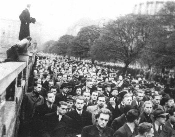 акция протеста против убийства Яна Оплетала