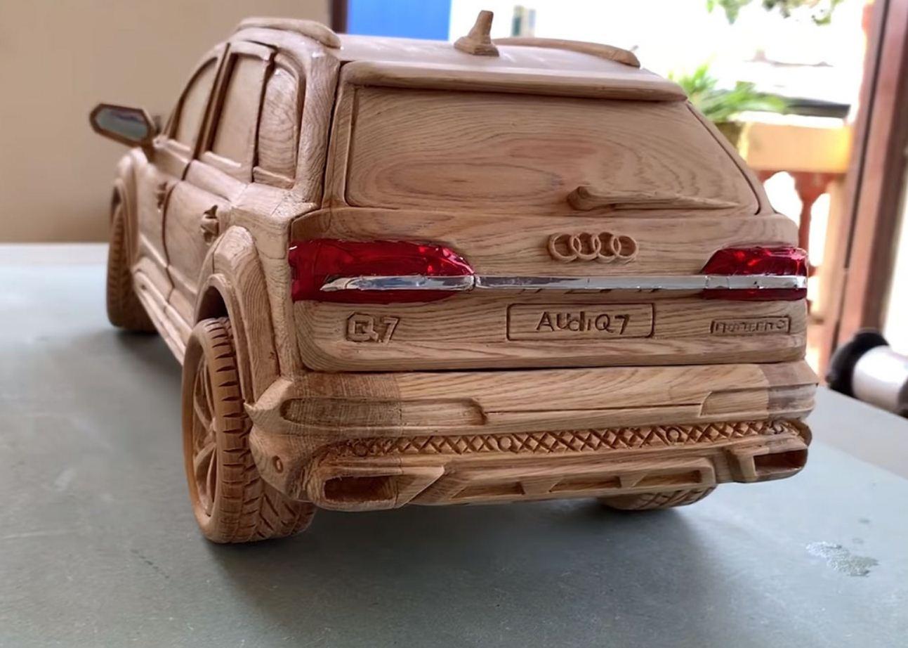 Audi Q7 из дерева (2)