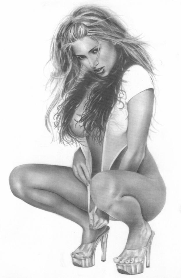 Рисунки голых девушек (14)