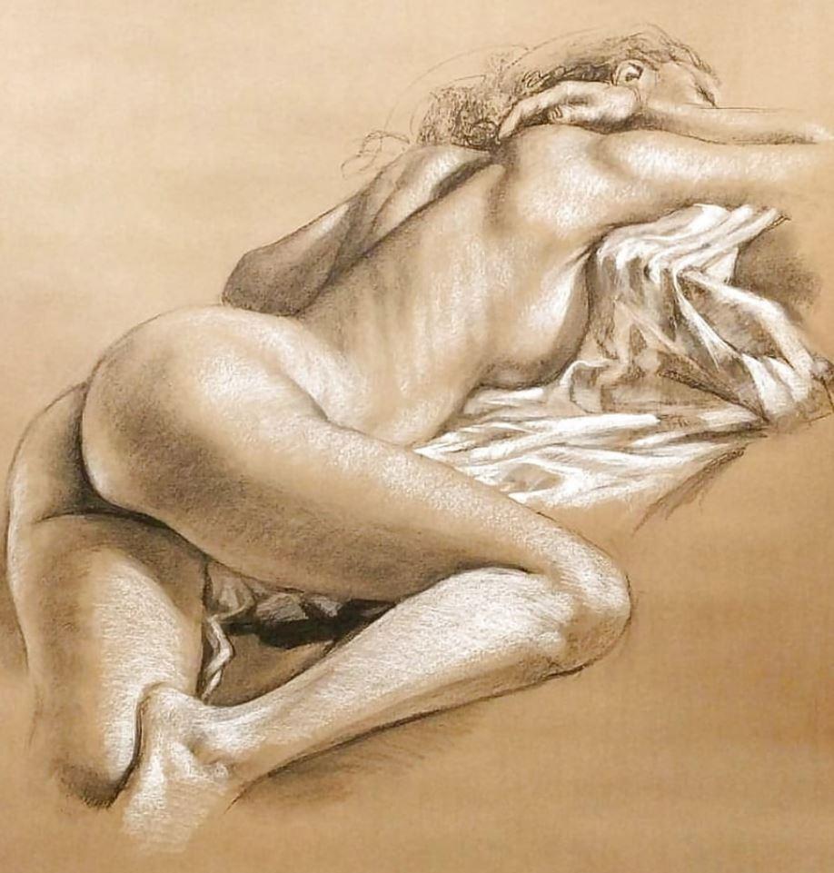 Рисунки голых девушек (16)