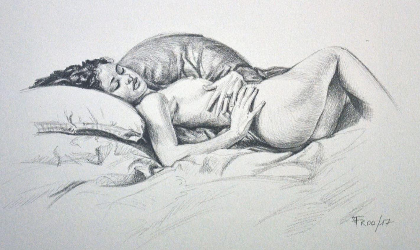 Рисунки голых девушек (17)