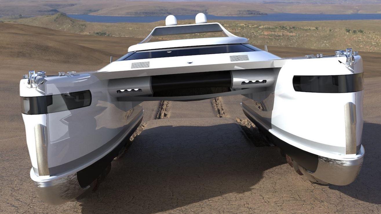Катамаран амфибия 2021 может плыть по воде и двигаться по суше