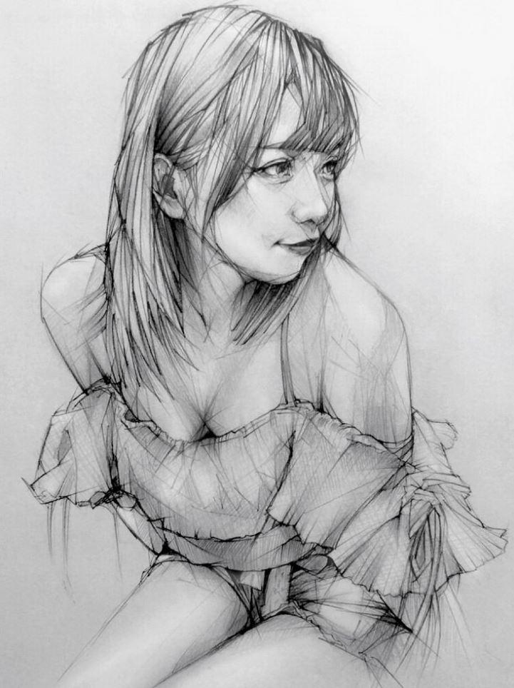 рисунки девушек (20)