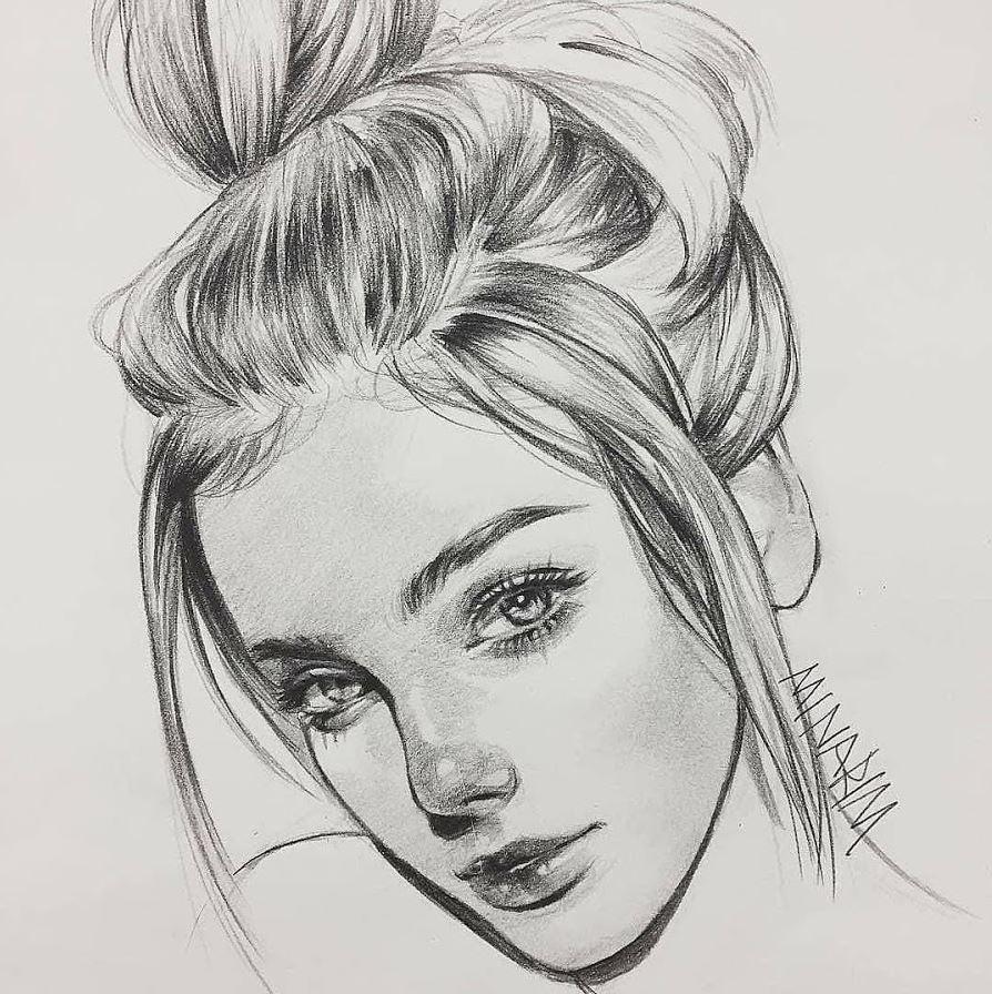 рисунки девушек (21)