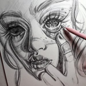 рисунки девушек