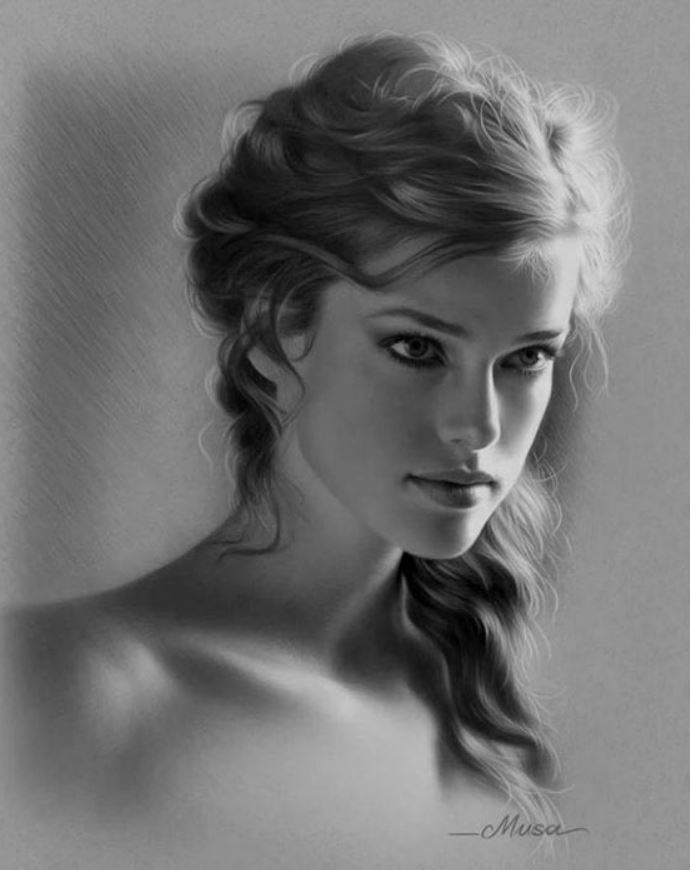 рисунки девушек (5)
