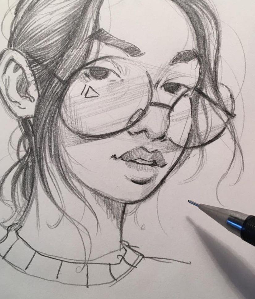 рисунки девушек (8)