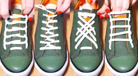 шнуровка кроссовок варианты