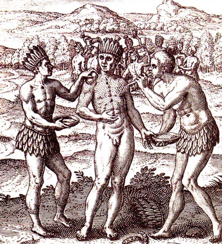 гравюры Теодора де Бри 1599 года