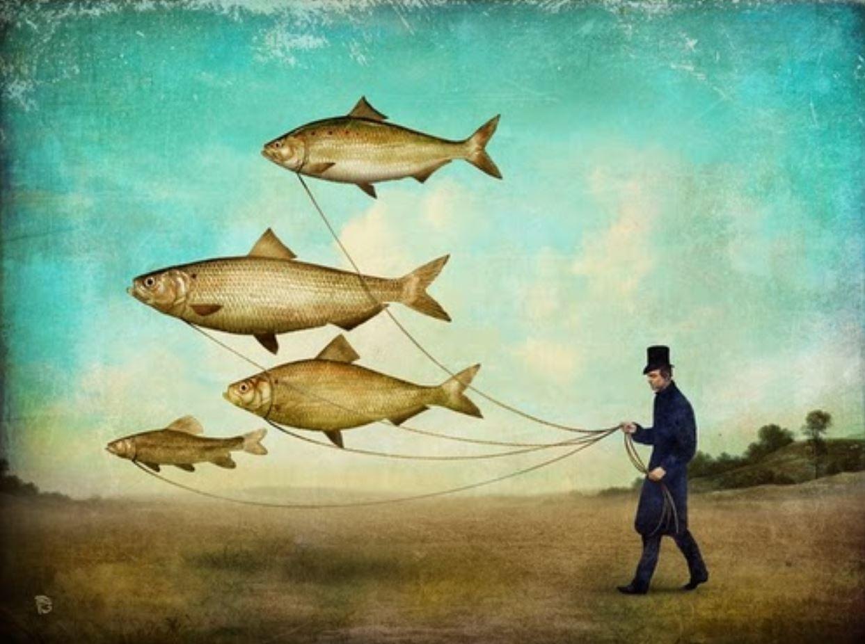 Прогулка с рыбой