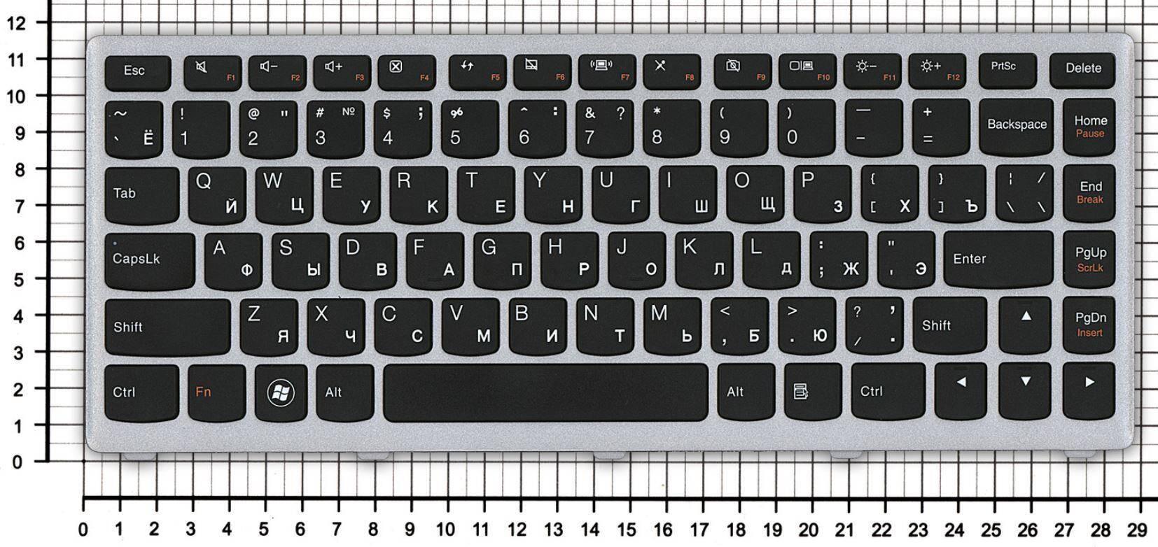 компьютера раскладка клавиш
