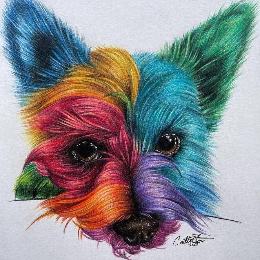 Животные карандашом